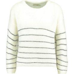 Swetry klasyczne damskie: See u Soon BOTTOM STRIPE  Sweter off white/black