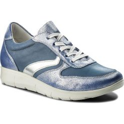 Półbuty LASOCKI - WI16-217050  Niebieski. Niebieskie półbuty damskie skórzane Lasocki, na płaskiej podeszwie. Za 169,99 zł.