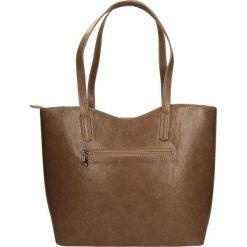 TOREBKA 1232. Brązowe torebki klasyczne damskie Casu. Za 89,99 zł.