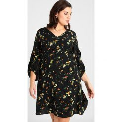 Sukienki hiszpanki: Dorothy Perkins Curve ALESSIA SPRIG PRINT TUCK SLEEVE DRESS Sukienka letnia black