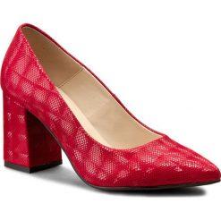 Półbuty SERGIO BARDI - Adina FS127296417SG 508. Czerwone półbuty damskie skórzane Sergio Bardi, eleganckie, ze szpiczastym noskiem, na obcasie. W wyprzedaży za 219,00 zł.