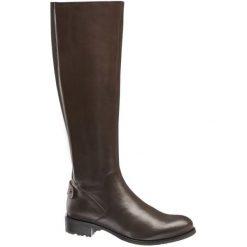 Kozaki damskie 5th Avenue brązowe. Brązowe buty zimowe damskie 5th Avenue, z materiału, na obcasie. Za 319,90 zł.
