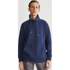 Bluza z kominowym kołnierzem - Granatowy. Niebieskie bluzy męskie rozpinane marki QUECHUA, m, z elastanu. Za 99,99 zł.