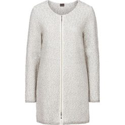 Swetry rozpinane damskie: Długi sweter bonprix szaro-biały melanż