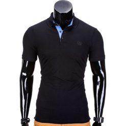 KOSZULKA MĘSKA POLO BEZ NADRUKU S837 - CZARNA. Czarne koszulki polo Ombre Clothing, m, z nadrukiem. Za 39,00 zł.