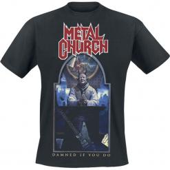 Metal Church Damned if you do T-Shirt czarny. Czarne t-shirty męskie Metal Church, m. Za 74,90 zł.