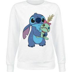 Lilo & Stitch Ohana Stitch & Scrump Bluza damska biały. Białe bluzy rozpinane damskie Lilo & Stitch, xxl, z nadrukiem. Za 164,90 zł.