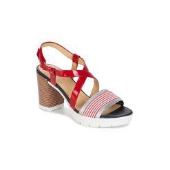 Sandały Geox  GINTARE B. Czerwone sandały damskie Geox. Za 383,20 zł.