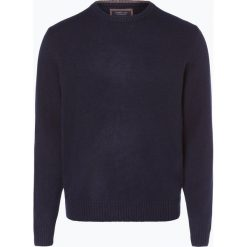Andrew James - Sweter męski z czystego kaszmiru, niebieski. Niebieskie swetry klasyczne męskie Andrew James, l, z kaszmiru, z klasycznym kołnierzykiem. Za 649,95 zł.