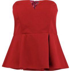 Bluzki asymetryczne: City Chic DEEP Bluzka red