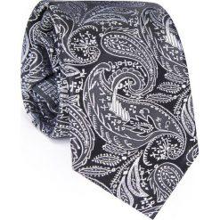 Krawat jedwabny KWCR000275. Szare krawaty męskie Giacomo Conti, z jedwabiu. Za 129,00 zł.