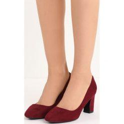 Bordowe Czółenka Marry Me. Czerwone buty ślubne damskie marki Born2be, na niskim obcasie, na słupku. Za 69,99 zł.
