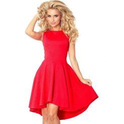66-12 ekskluzywna sukienka z dłuższym tyłem - czerwona. Czerwone sukienki na komunię marki numoco, l, oversize. Za 137,00 zł.