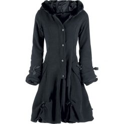 Poizen Industries Alice Coat Płaszcz damski czarny. Czarne płaszcze damskie pastelowe Poizen Industries, xl, z aplikacjami, z polaru. Za 446,90 zł.