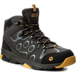Trapery JACK WOLFSKIN - Mtn Attack 2 Texapore Mid K 4016732 Burly Yellow. Czarne buty zimowe chłopięce marki Jack Wolfskin, z materiału. W wyprzedaży za 259,00 zł.