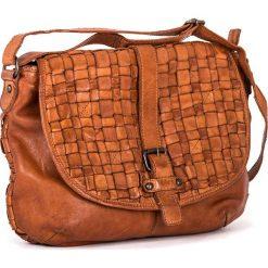 Torebki klasyczne damskie: Skórzana torebka w kolorze brązowym – 30 x 24 x 10 cm