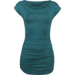 Forplay Gathered Shirt Koszulka damska zielono-niebieski (Petrol). Niebieskie bluzki asymetryczne Forplay, xl. Za 62,90 zł.