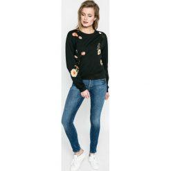 Haily's - Bluza. Czarne bluzy damskie Haily's, l, z aplikacjami, z bawełny, bez kaptura. W wyprzedaży za 79,90 zł.