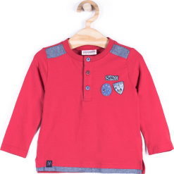Koszulka. Czerwone t-shirty chłopięce z długim rękawem CATRONAUTA, z bawełny. Za 34,90 zł.