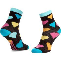 Skarpety Wysokie Dziecięce FREAK FEET - JLSRC-BLB Czarny Kolorowy. Czarne skarpetki męskie Freak Feet, w kolorowe wzory, z bawełny. Za 14,99 zł.