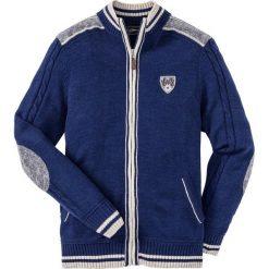 Sweter rozpinany w ludowym stylu Regular Fit bonprix kobaltowy. Niebieskie kardigany męskie marki bonprix, l, z aplikacjami. Za 89,99 zł.