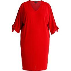 Lauren Ralph Lauren Woman MATTE DRESS Sukienka z dżerseju lipstick red. Czerwone sukienki z falbanami marki Lauren Ralph Lauren Woman, z dżerseju. Za 629,00 zł.