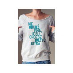 Nie obudź mnie bluza dla matek karmiących. Szare bluzy z nadrukiem damskie One mug a day, s, z bawełny. Za 159,00 zł.