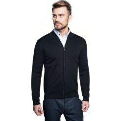 Sweter colbert stójka czarny. Szare swetry klasyczne męskie marki Recman, m, z długim rękawem. Za 260,00 zł.