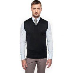 Sweter veneto w serek czarny. Szare swetry klasyczne męskie marki Recman, m, z długim rękawem. Za 109,00 zł.