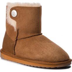 Buty EMU AUSTRALIA - Ore W11788 Chestnut. Brązowe buty zimowe damskie marki EMU Australia, ze skóry, na niskim obcasie. Za 649,00 zł.