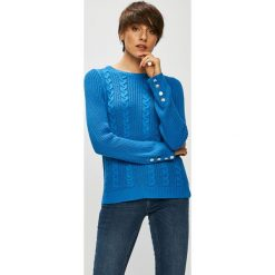 Vero Moda - Sweter Signe. Szare swetry klasyczne damskie Vero Moda, l, z bawełny, z okrągłym kołnierzem. Za 129,90 zł.