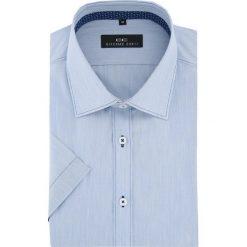 Koszula APPOLINARE 15-11-18-K. Szare koszule męskie na spinki Giacomo Conti, na lato, m, w kolorowe wzory, z krótkim rękawem. Za 169,00 zł.