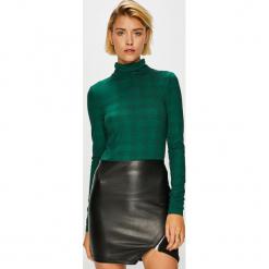 Vero Moda - Bluzka. Szare bluzki z golfem marki Vero Moda, l, z dzianiny, casualowe. Za 69,90 zł.