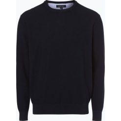 Andrew James - Sweter męski, niebieski. Niebieskie swetry klasyczne męskie Andrew James, m, z bawełny, z okrągłym kołnierzem. Za 129,95 zł.
