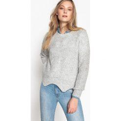 Kardigany damskie: Sweter, okrągły dekolt, cienka dzianina