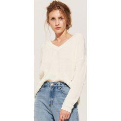 Sweter oversize - Kremowy. Białe swetry oversize damskie marki House, l. Za 69,99 zł.