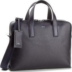 Torba BOSS - Timeless_S 50379802  Navy 411. Niebieskie plecaki męskie Boss. W wyprzedaży za 1469,00 zł.