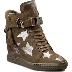 Sneakersy CARINII - B3767/G I43-000-POL-B88. Zielone sneakersy damskie marki Carinii, z nubiku. W wyprzedaży za 249,00 zł.