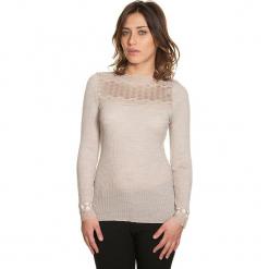 Koszulka w kolorze szarobrązowym. Czarne bluzki koronkowe marki bonprix. W wyprzedaży za 113,95 zł.