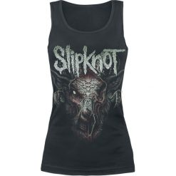 Slipknot Infected Goat Top damski czarny. Czarne topy damskie marki Slipknot, s, z nadrukiem, z dekoltem na plecach. Za 54,90 zł.
