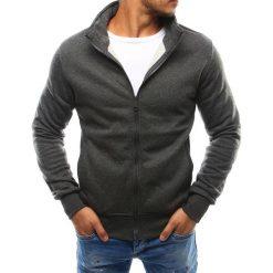 Bluzy męskie: Bluza męska rozpinana bez kaptura antracytowa (bx2420)