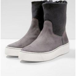 Buty zimowe damskie: MA&LO Botki softy gris