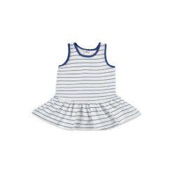 Anna & tom  Mini Girls Sukienka w paski kolor niebieski. Niebieskie sukienki niemowlęce anna & tom, na lato, w paski, z bawełny, mini. Za 25,00 zł.