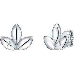 Srebrne kolczyki-wkrętki z diamentami. Szare kolczyki damskie Stylowa biżuteria, z diamentem, srebrne. W wyprzedaży za 130,95 zł.