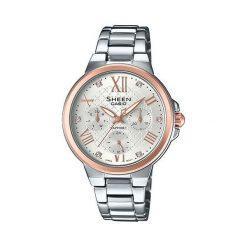 Zegarki damskie: Zegarek Sheen Damski SHE-3511SG-7AUER Swarovski srebrny