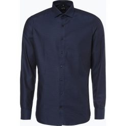Olymp Level Five - Koszula męska łatwa w prasowaniu, niebieski. Niebieskie koszule męskie na spinki marki OLYMP Level Five, m, paisley, ze stójką. Za 249,95 zł.