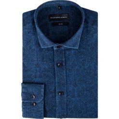 Koszula KDNS000237. Niebieskie koszule męskie na spinki Giacomo Conti, l, z bawełny, z włoskim kołnierzykiem. Za 229,00 zł.