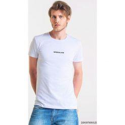 MINIMALISM Męski T-shirt. Szare t-shirty męskie Pakamera, m, z bawełny, z klasycznym kołnierzykiem. Za 99,00 zł.