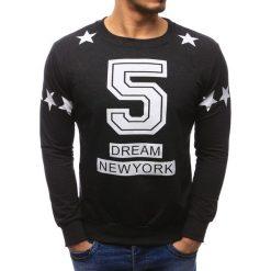 Bluzy męskie: Bluza męska z nadrukiem grafitowa (bx1268)