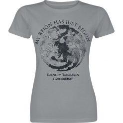 Bluzki asymetryczne: Gra o Tron Reign Of Targaryen Koszulka damska szary